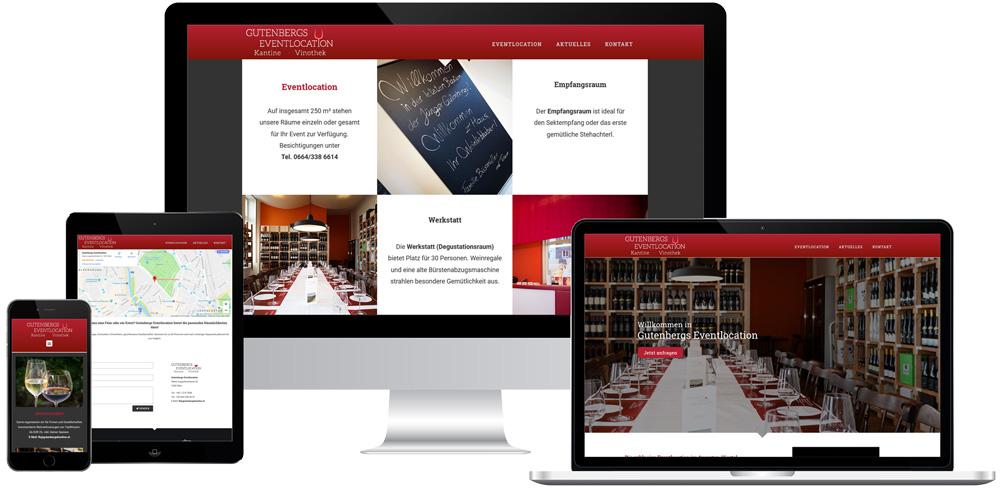 Winterlik Portfolio Website GutenbergsKantine