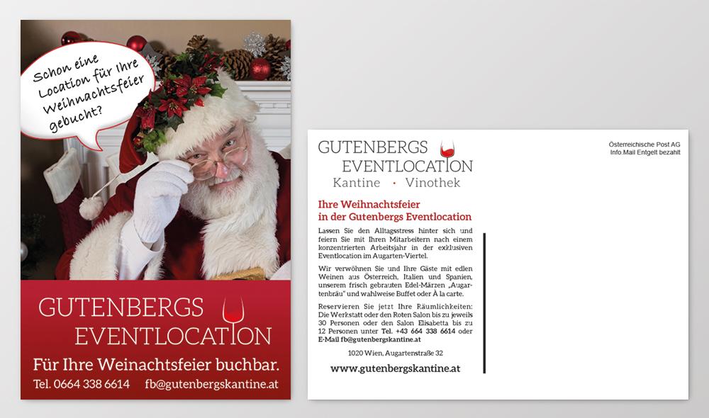 Winterlik Portfolio Gutenbergs Postkarte